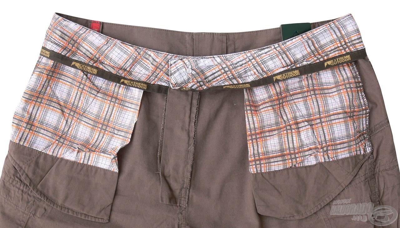Belülről a derékrész és a zsebek bélése is puha anyagú, nem dörzsöli ki viselője bőrét