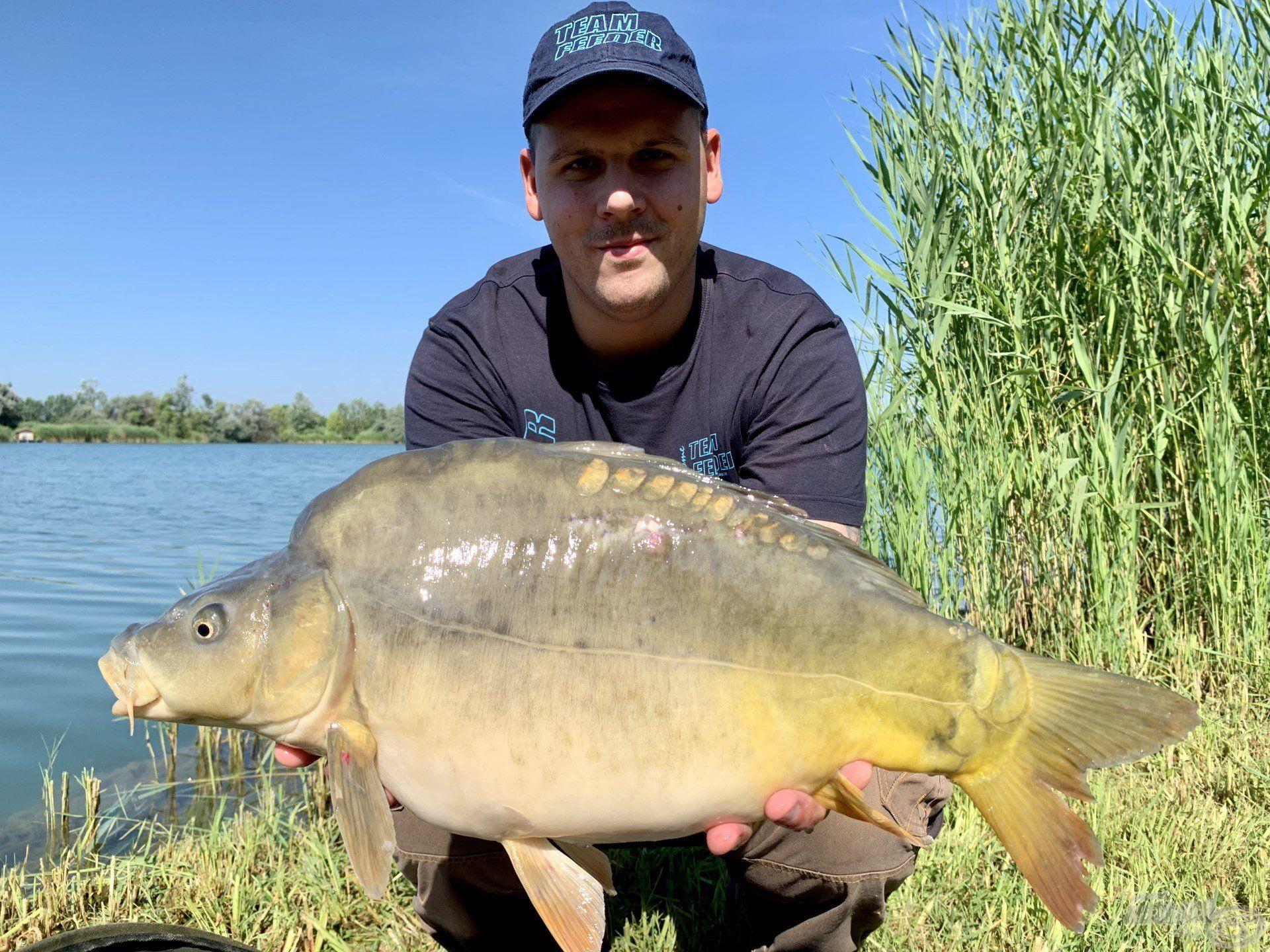 Az itteni horgászatok egész napos izgalmát a 2-4 kg közti pontyok garantálják…