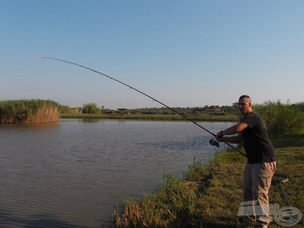 Érezhetően nem a tó legnagyobb halával küzdöttem…