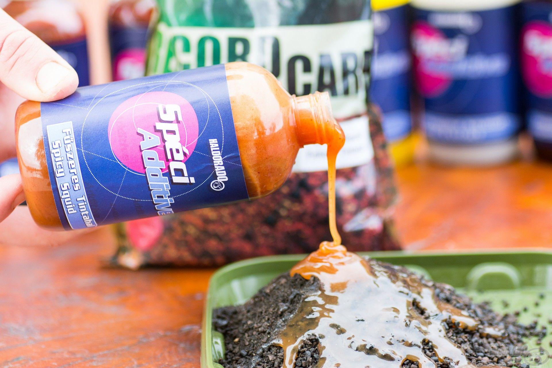 A Fűszeres Tintahal egy egész évben eredményesen használható adalék, etetőanyagokhoz és stick mixekhez egyaránt használható