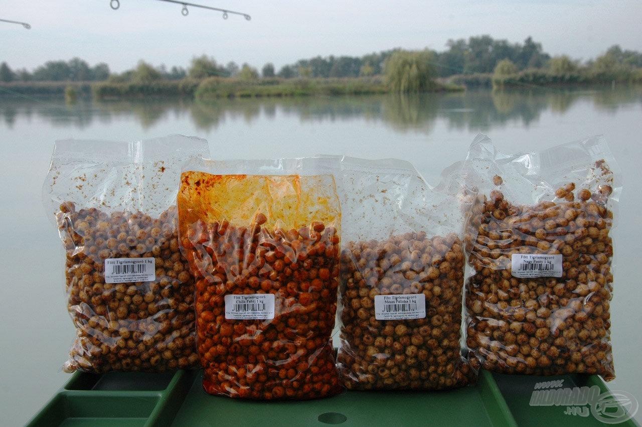 Ez év közepétől már a főzött ízesített tigrismogyoró is elérhető a Haldorádó kínálatában, egy natúr és három ízesített változatban