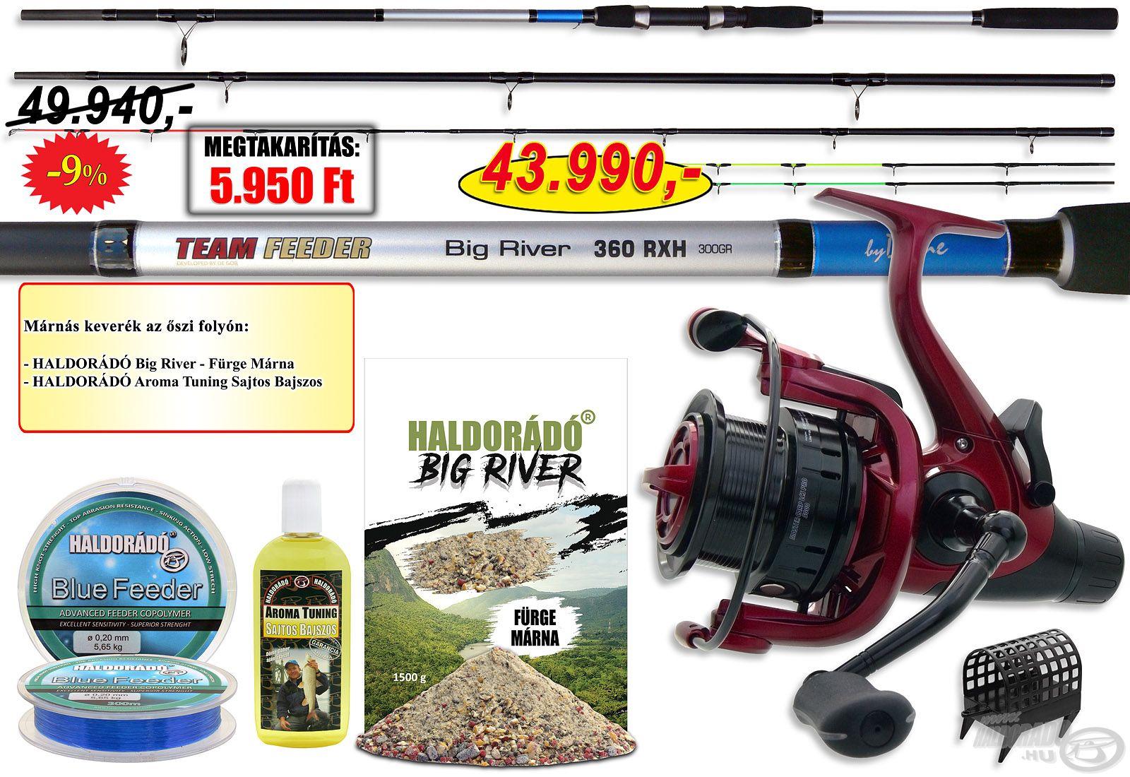 A By Döme Big River 360RXH folyóvízi feeder szettet azoknak a horgászoknak ajánljuk, akik a folyóvizeken szeretnék üldözőbe venni a termetes halakat, s ehhez szükségük van egy extra strapabíró felszerelésre!