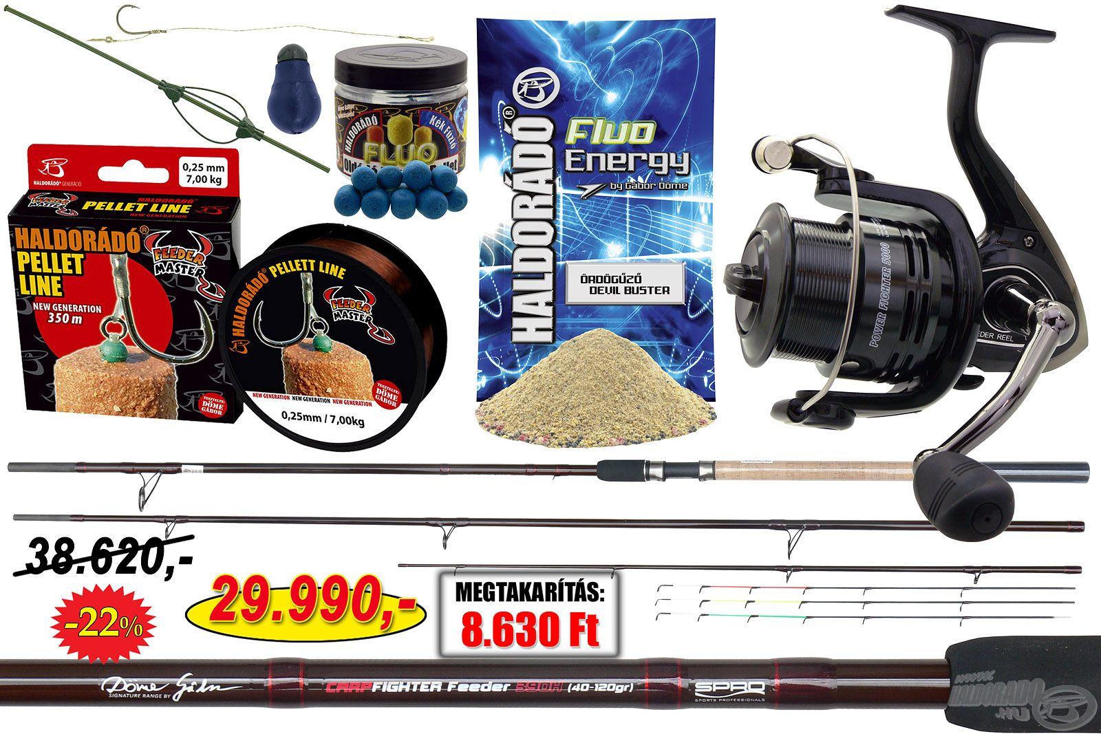 Kiváló minőségű, használatra kész felszerelés, nagyhalas feederhorgászoknak!