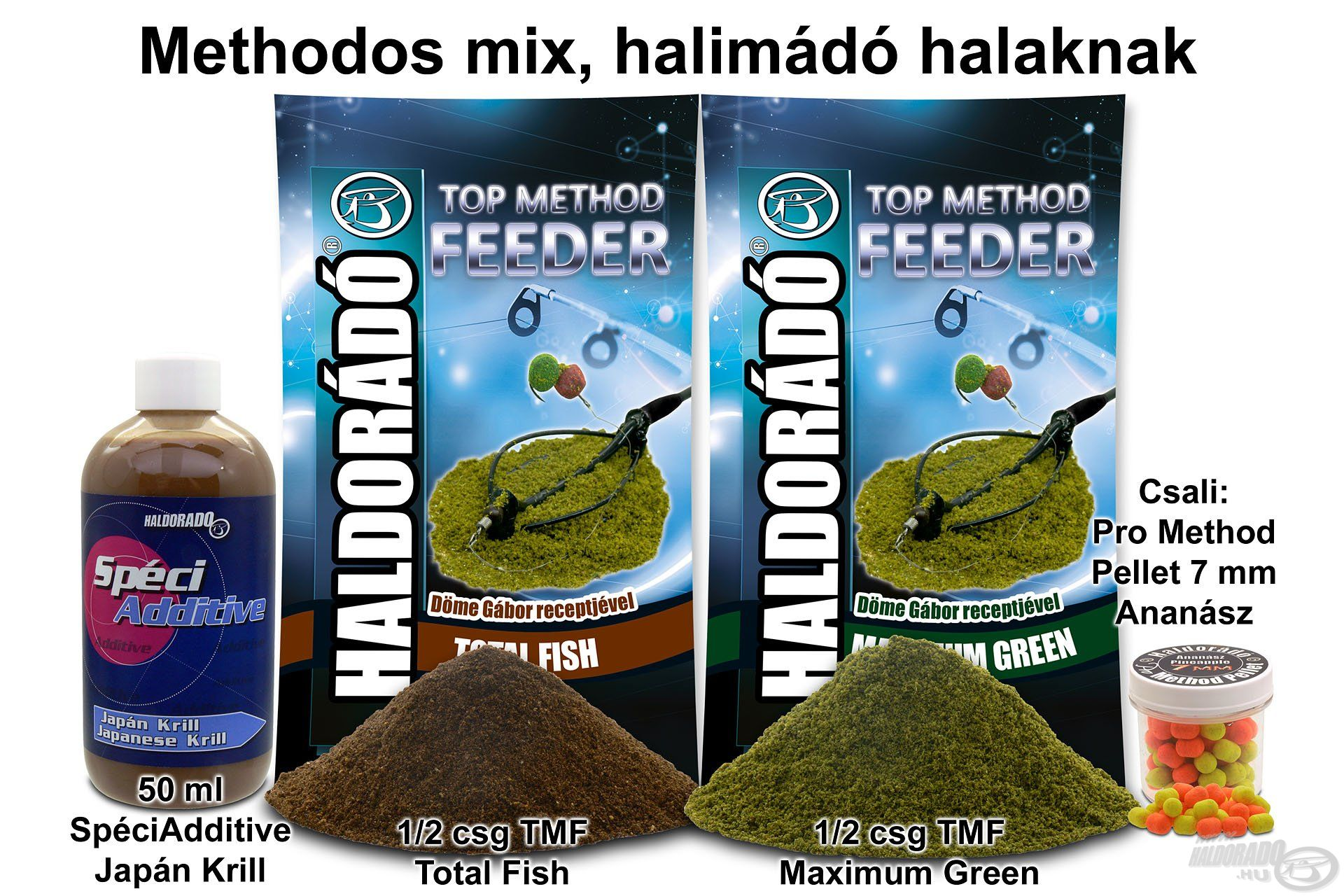 Methodos mix halimádó halaknak