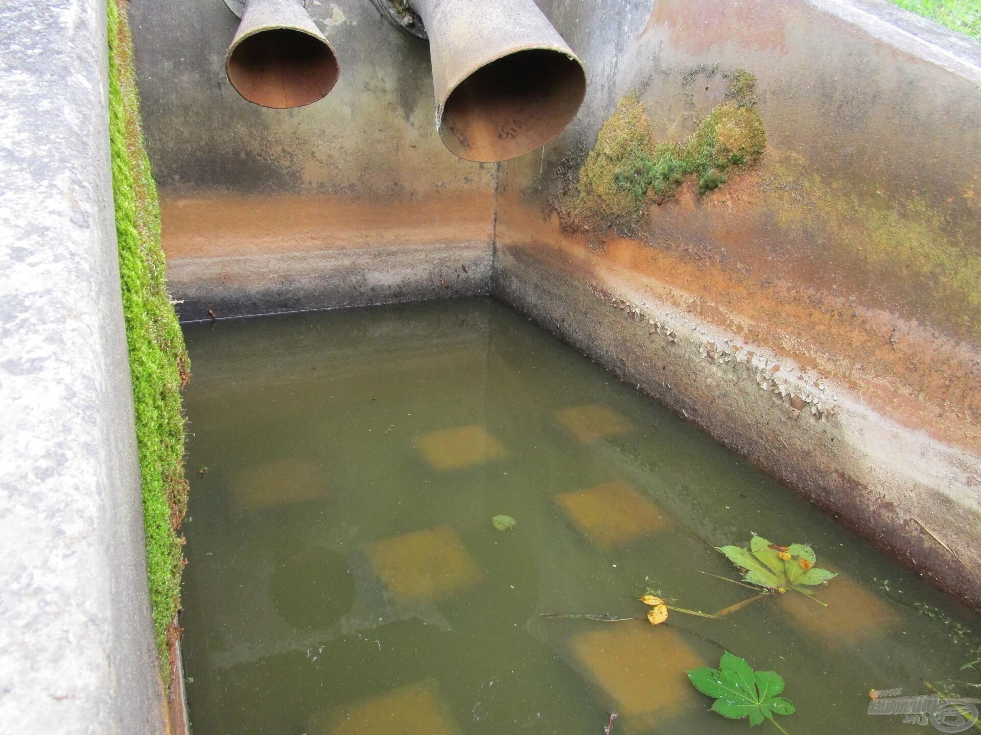 Alacsonyabb vízállásnál mindig látszanak ezek a kis betonkockák