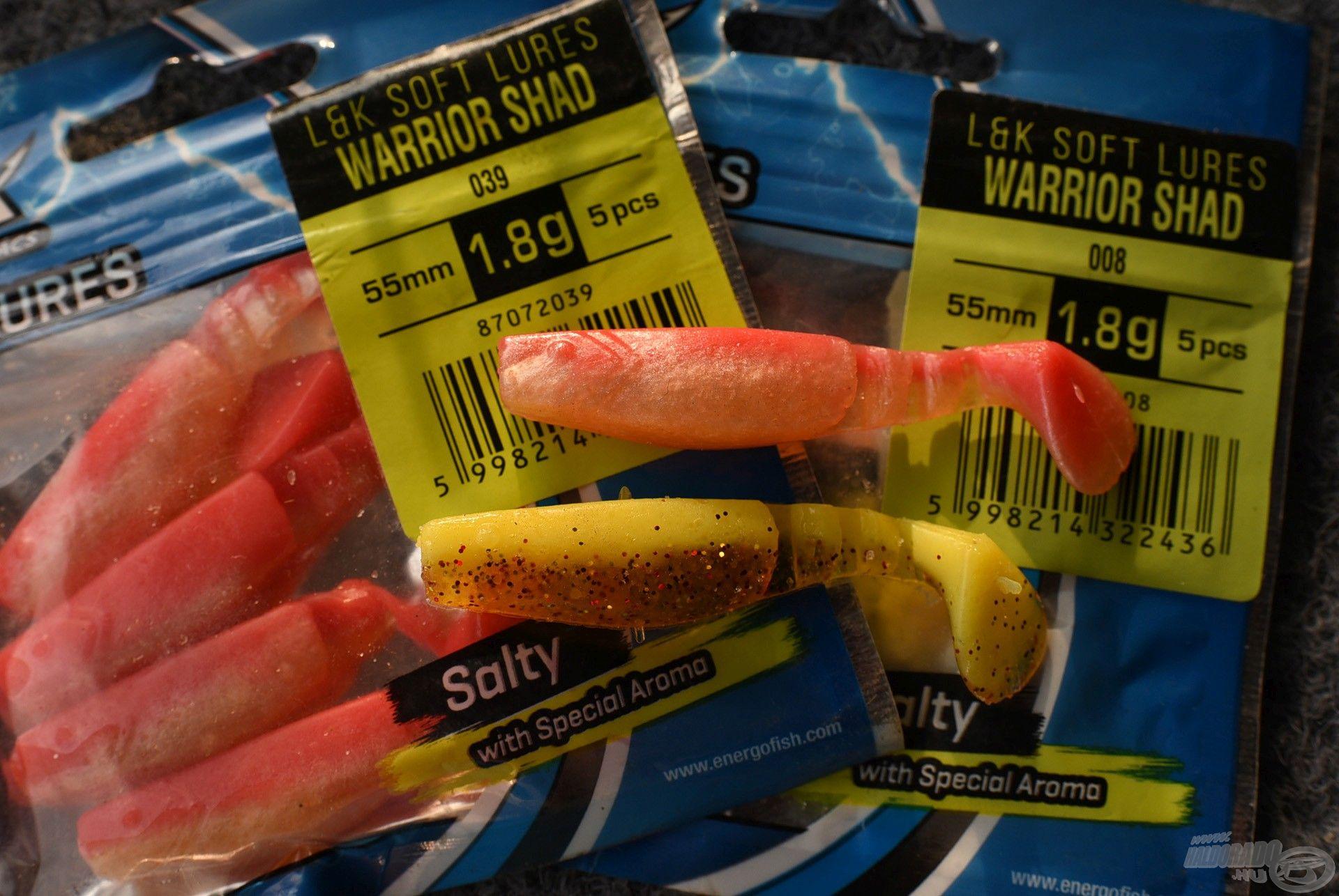 Talán az egyik általam is legkedveltebb nyári plasztik csali a Warrior Shad