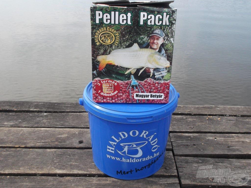 A nagyhalas horgászat elengedhetetlen eleme a Pellet Pack, ezúttal a Magyar Betyáros változatot használtam