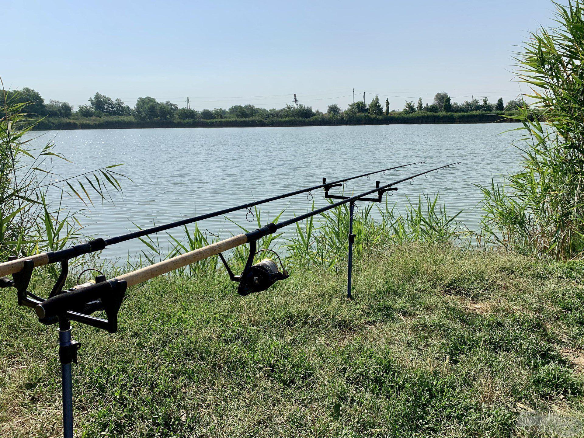 … és kezdődhet a horgászat a tökéletesen kialakított etetésen