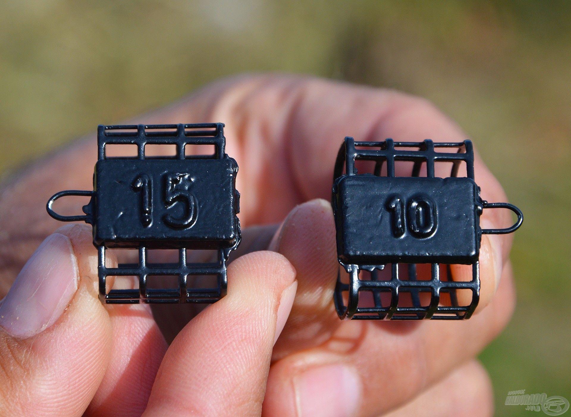 A Micro kosarak 10 és 15 grammos önsúlyúak