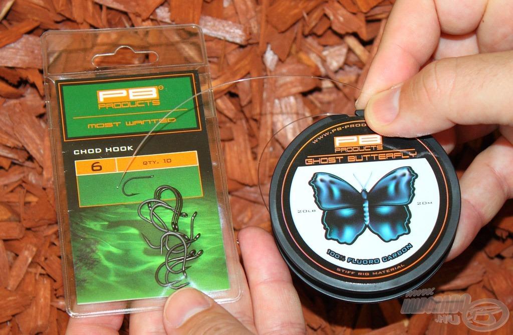 Chod Hook + 100%-os Fluorocarbon - tökéletes páros a chod szerelékhez