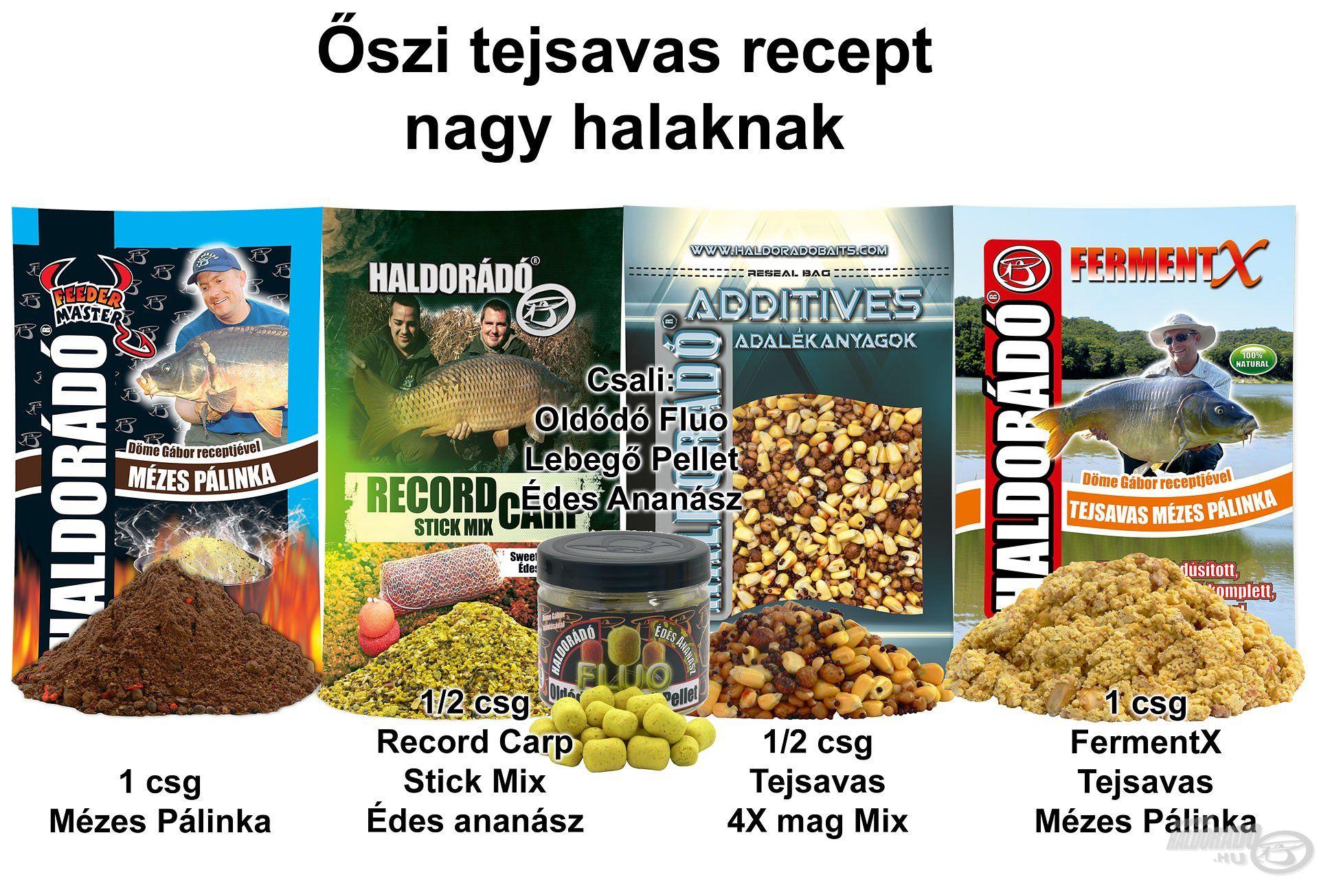 Őszi tejsavas recept nagy halaknak