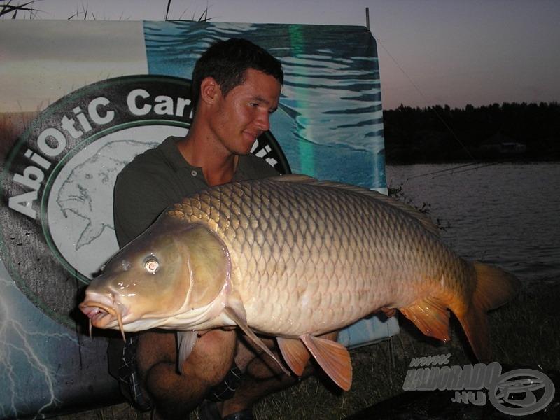 Az utolsó halam volt a túrán ez a szép hosszúkás, 13,90 kg-os pikkelyes