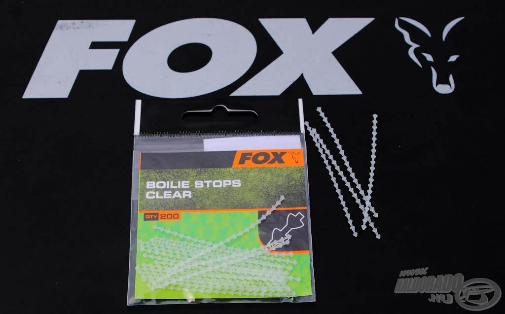 A Fox bojlistoppere víztiszta kivitelben kerül forgalomba. 200 darab található egy csomagban