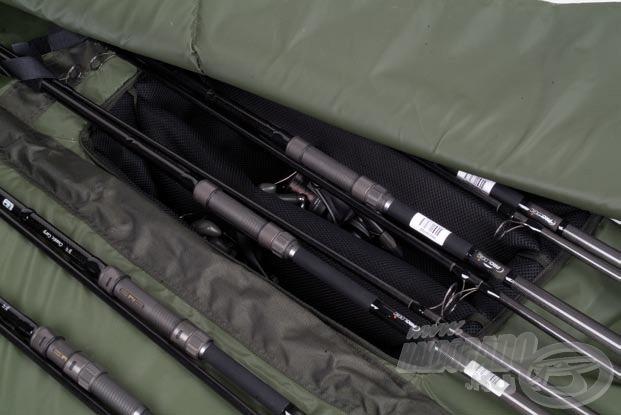 Az orsókat elválasztó részek vastagon párnázottak, így maximális védelmet biztosítanak drága felszerelésünknek