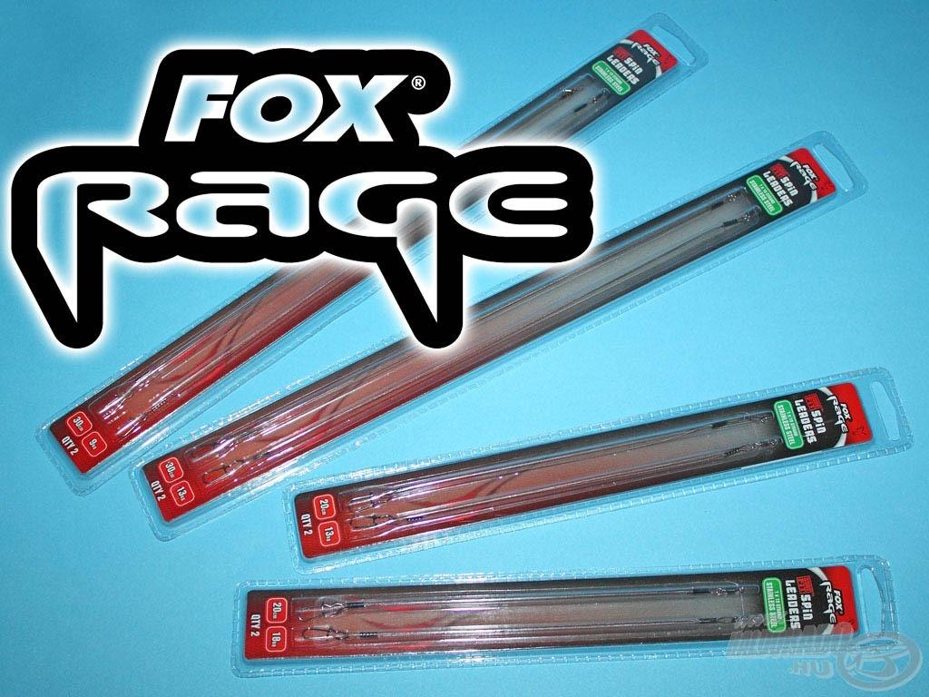 A FOX is kínál a Rage szérián belül csukabiztos előkéket