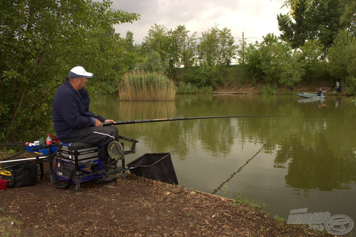 Rakóssal lehet horgászni magunk elé, akár teljes hosszban is, de nem mindig ez a célravezető