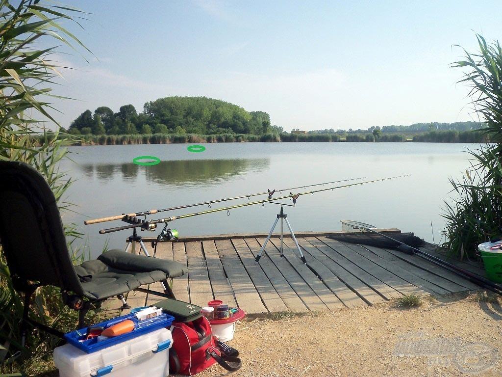 Minden kéz alatt, kinéztem két ígéretes helyet, amit meg kívántam horgászni mai nap
