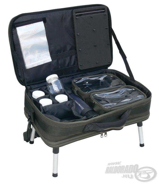 Sok ötletes megoldást és remek pakolási lehetőséget kínál a Feeder szerelékes táska