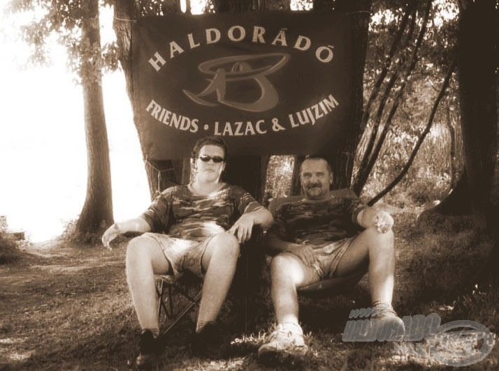 "2003 júniusa Zsolt fiammal a Haldorádó ""paleolit"" korából"