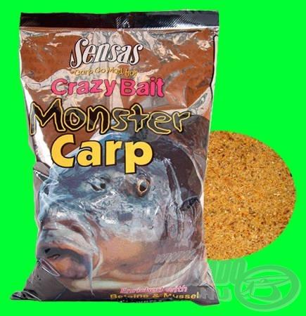 Sensas Crazy Bait Monster Carp betainnal és kagylóval dúsított keverék