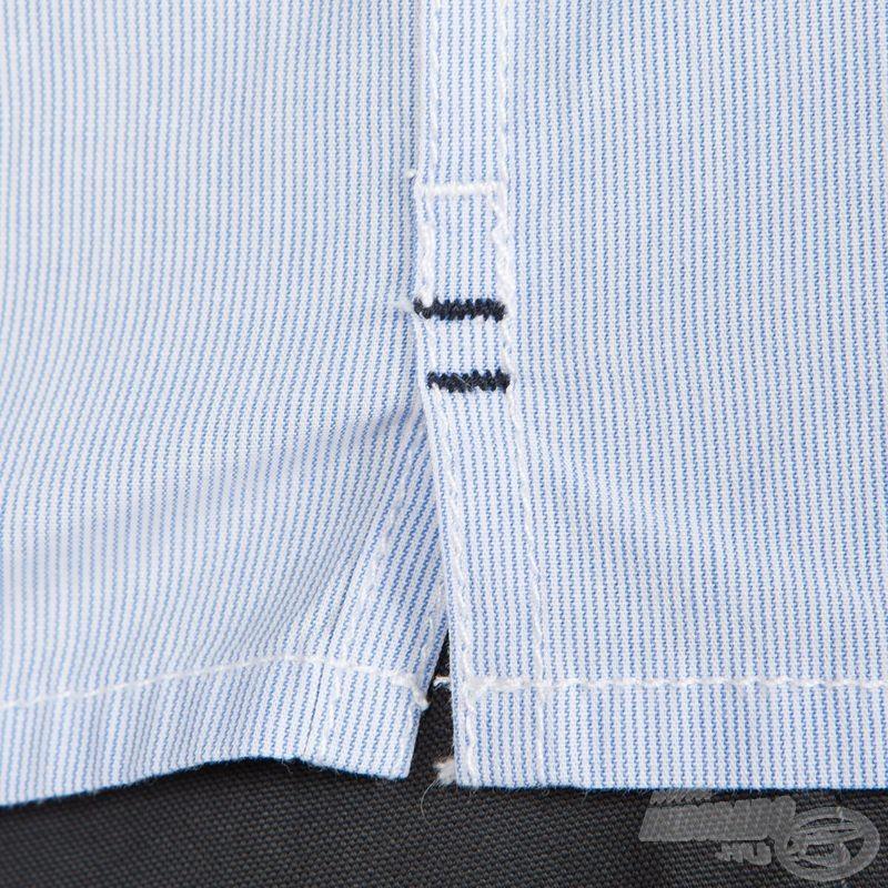 Az ing minden varrása és szegélye strapabíró kivitelű, tartós használatra lett tervezve