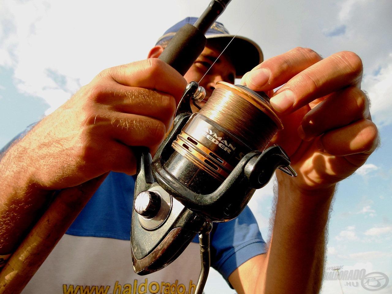 A precíz fékkel akár 20-as zsinórral is elbánhatunk a nagytestű halakkal