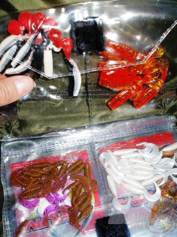 Előketartó táskában rendezetten tarthatjuk kisebb plasztikjainkat