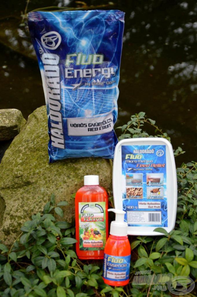 A Fluo Energy Vörös Gyümölcs termékcsalád a tavaszi horgászatok egyik legkedveltebb ízvilága