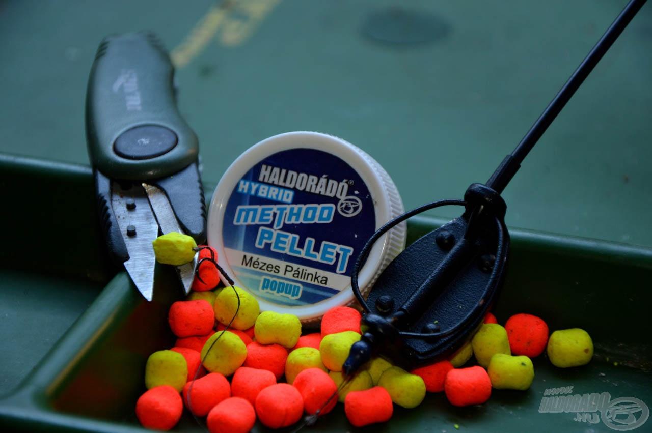 A kiélezett versenyszituációk és a hideg vizek nyerő csalija a Hybrid Method Pellet, amelyet egy olló segítségével még kisebbre lehet farigcsálni, így könnyebb horgok mellett is felkínálható