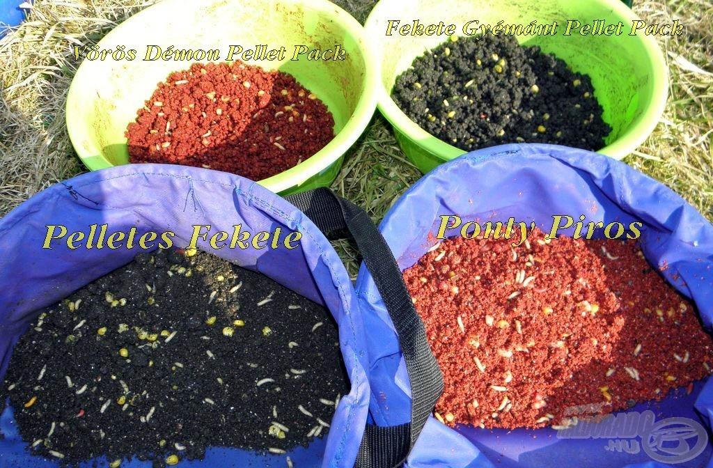 Így néznek ki a kész etetőanyagok. Minden adott a horgászat megkezdéséhez