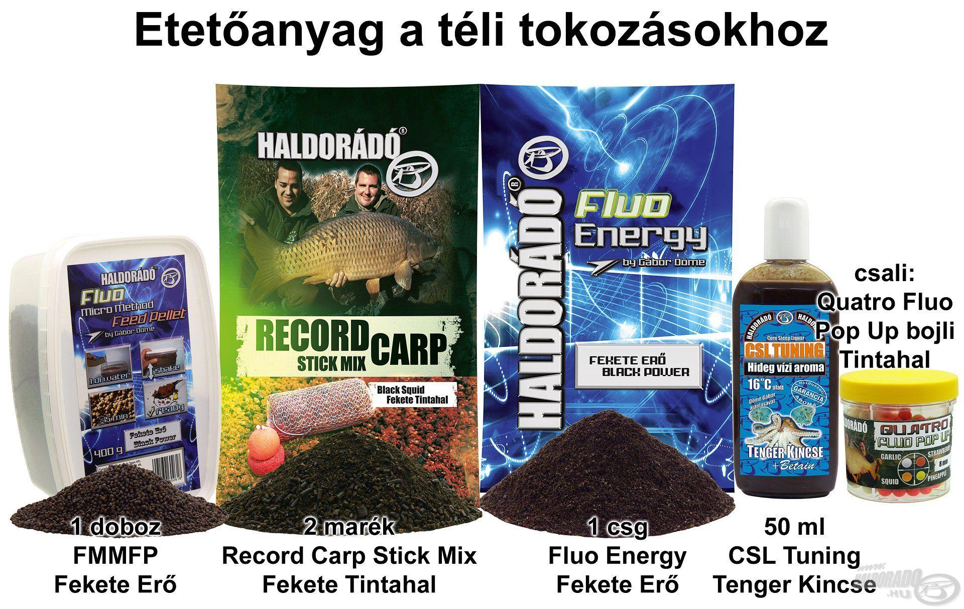Etetőanyag a téli tokozásokhoz
