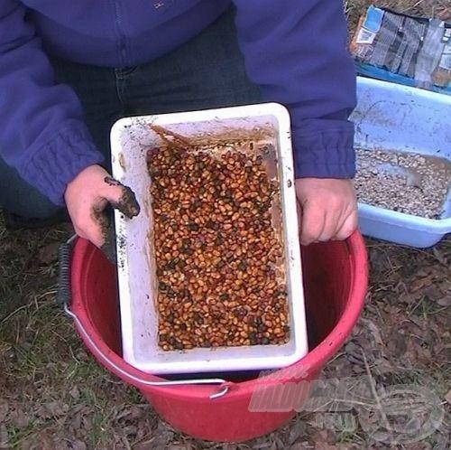 … a darabosabb alkotóelemeket a kukoricával együtt Vörös Démon CSL aromába áztathassam