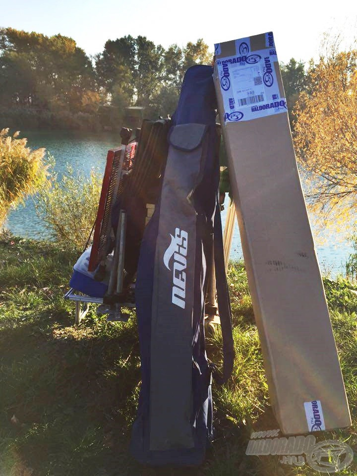 A felszerelés a tóparton, indulhat a tesztelés