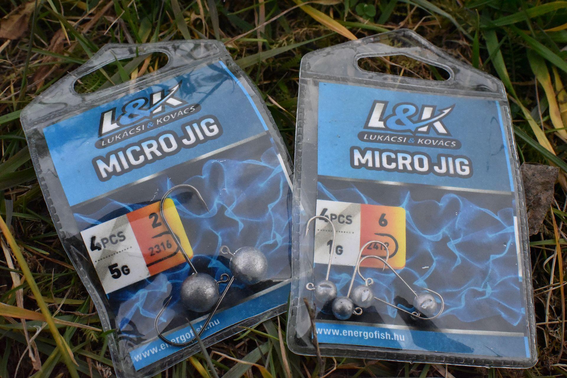 Fényes és fekete kivitelben is kaphatóak az L&K Micro Jig horgai