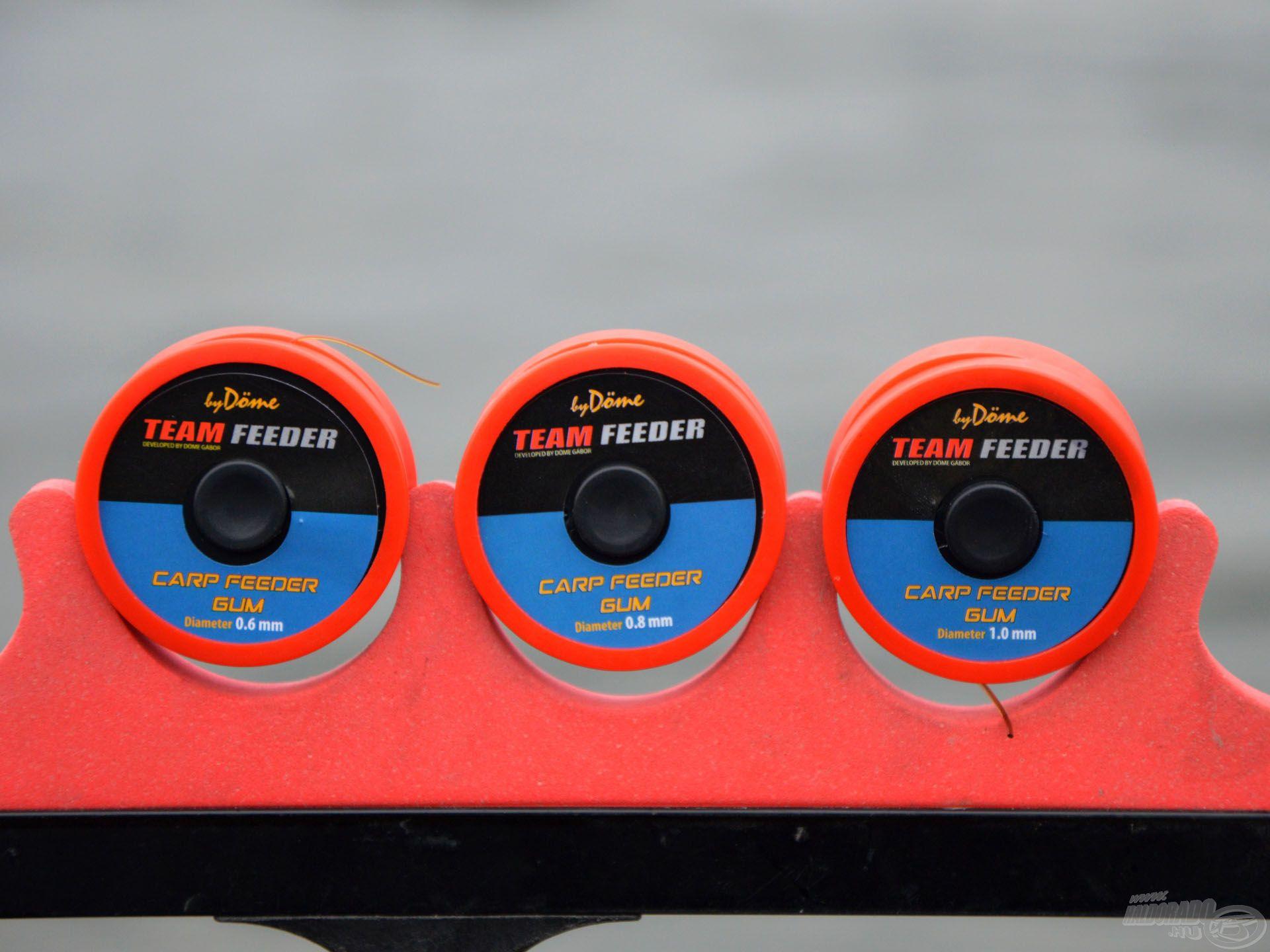 A By Döme TF Carp Feeder Gum három méretben, 0,6; 0,8 és 1 mm-es változatokban kapható