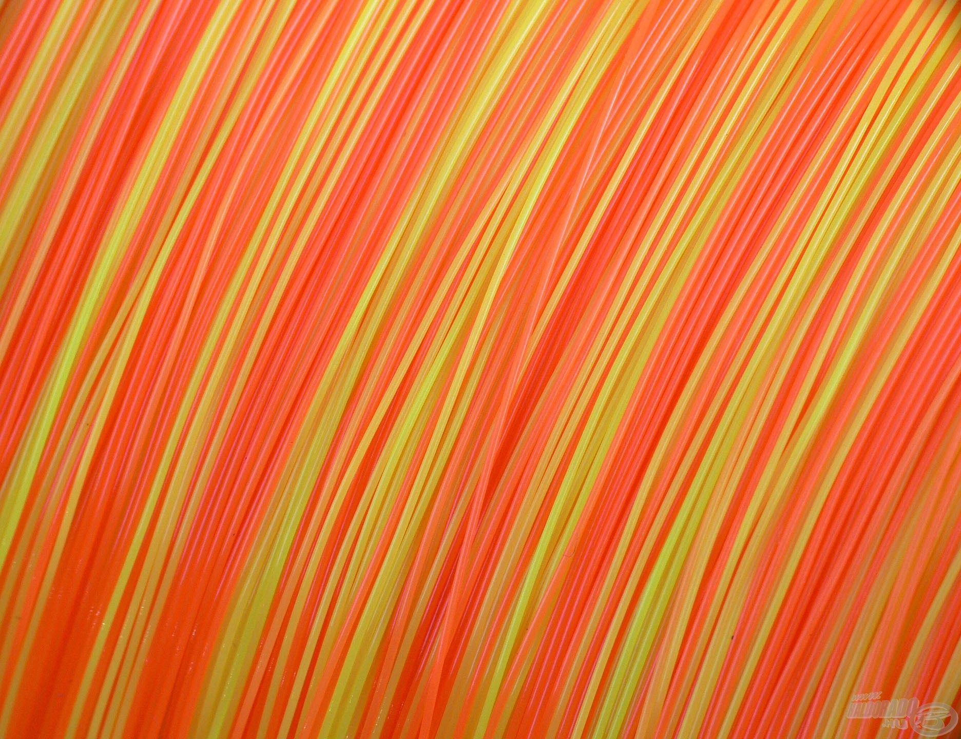 Ez a zsinór két színnel rendelkezik, felosztásában citrom és narancssárga színek között változik néhány méterenként