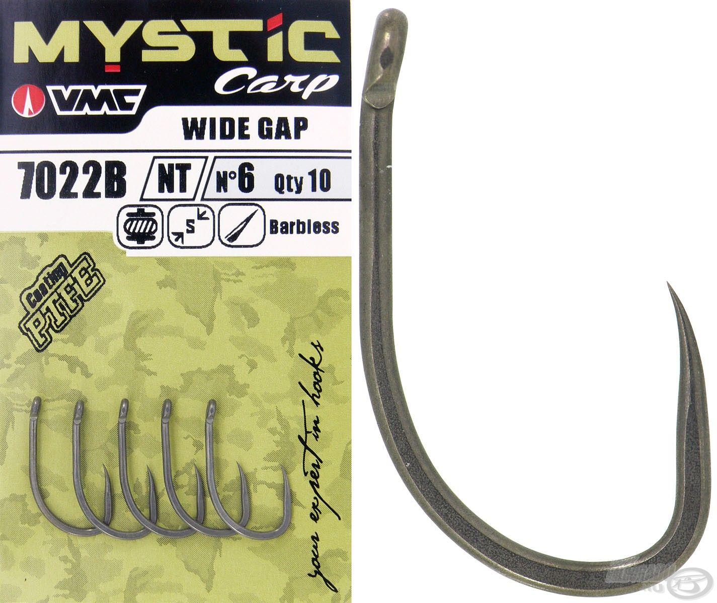 A Wide Gap szakáll nélküli verzióban is elérhető, mely a legkevésbé roncsolja a halak száját