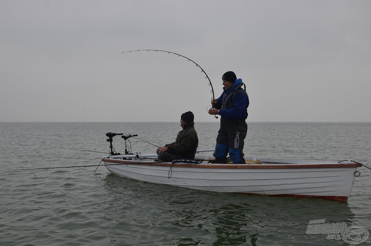 Ha jó irányba haladtunk, az első dobások már halat adtak