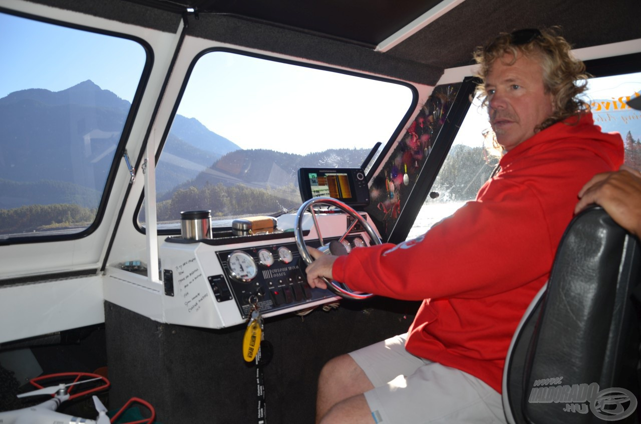 Ide nagyon kevés ember merészkedik fel! A Great River Fishing Adventures cég tulajdonosa, Dean Werk személyesen irányítja itt a horgászatot. Ő a legtapasztaltabb túravezető a Fraser folyón!