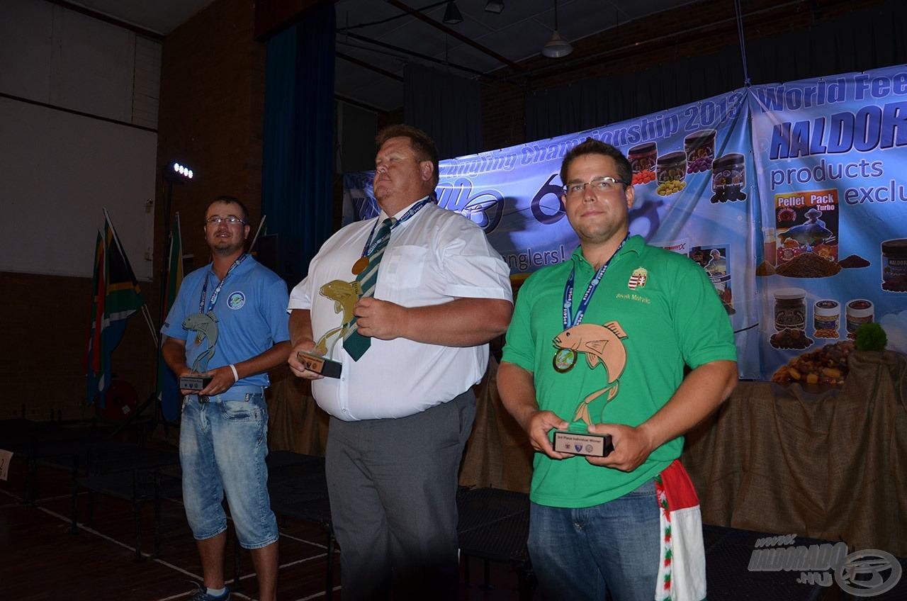 Sivák Mátyás az egyéni versenyben bronzérmet szerzett