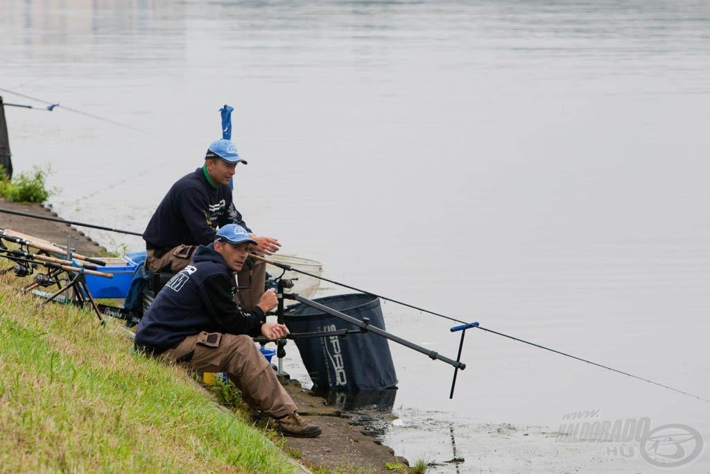 Mindenki (a versenyzők és a segítők) folyamatosan azon törték a fejüket, hogy miként lehetne minél több halat fogni?!
