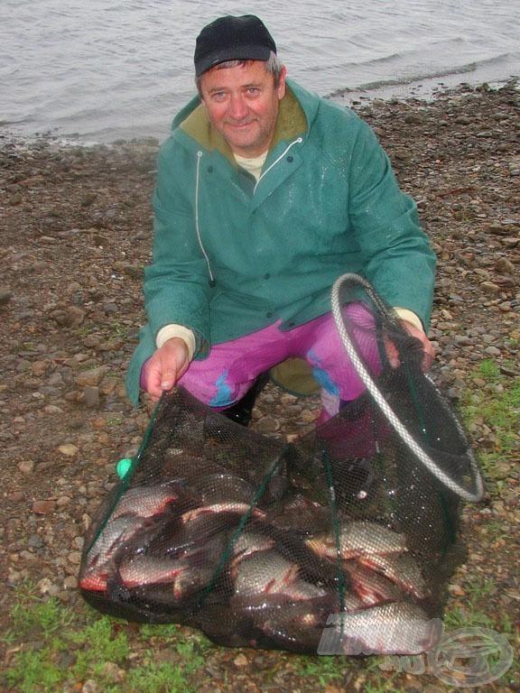 A viharos, esős idő ellenére jót horgásztunk
