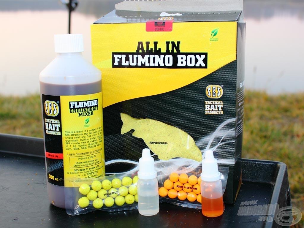 Az All in Flumino Boxban található 500 ml-es folyadék ízesítése határozza meg, hogy mikor melyik terméket használjuk. A boxok két hideg és két meleg vízre való ízben kerülnek majd boltok polcaira