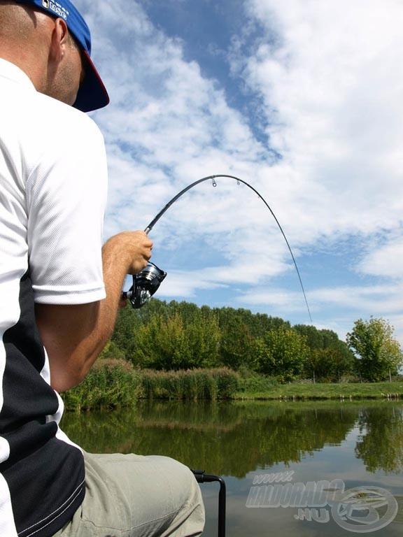 Bot és orsó együtt őrli fel a hal erejét, tökéletes összhangban kell lenniük