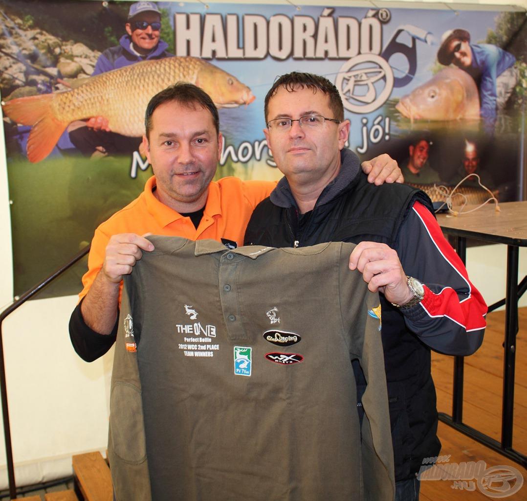A World Carp Classic versenyt is megjárt hímzett póló is gazdát cserélt