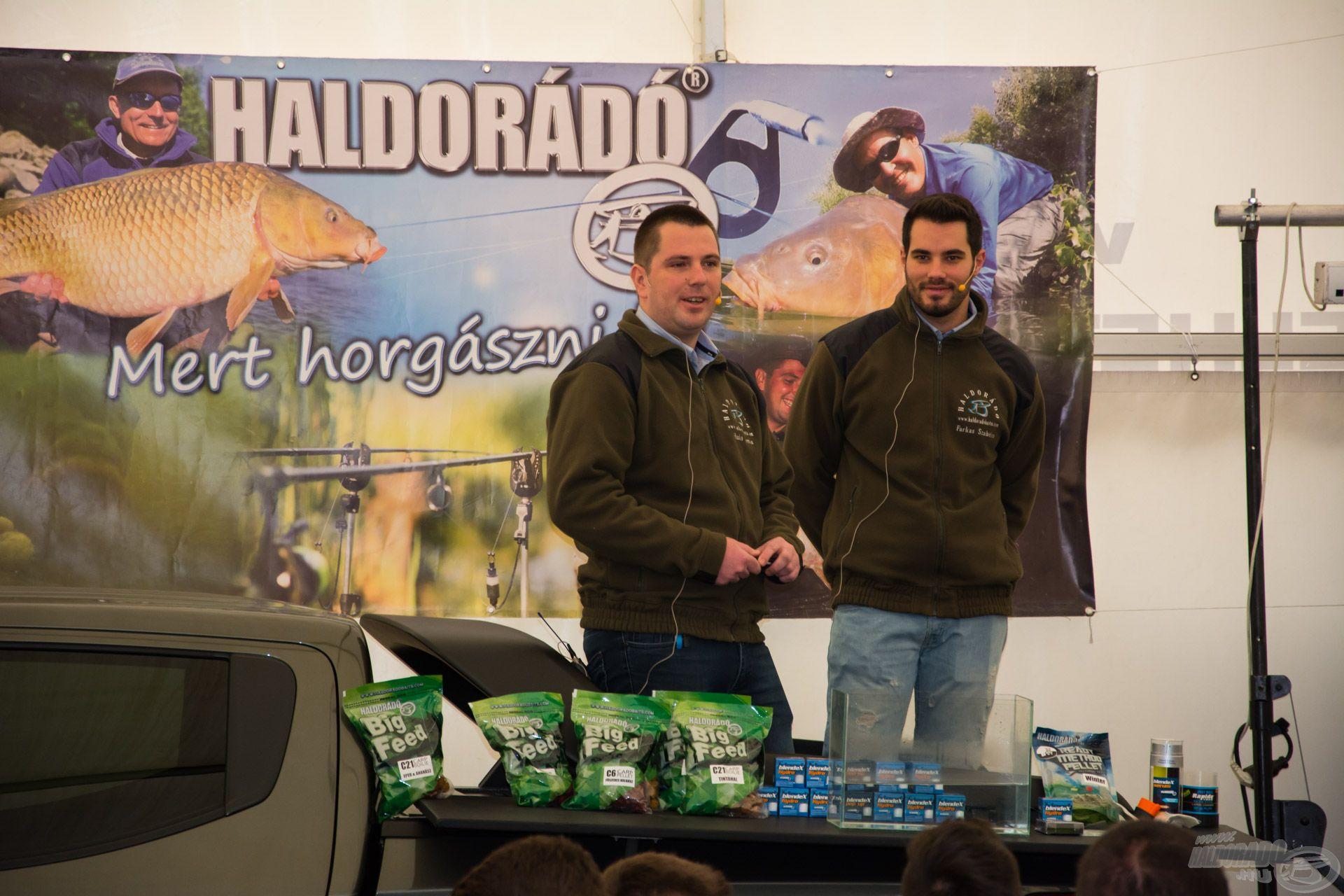 Haskó Tomi és Farkas Szabi Tippek, ötletek a rapid nagyponty-horgászathoz c. előadása 9:45-kor kezdődött