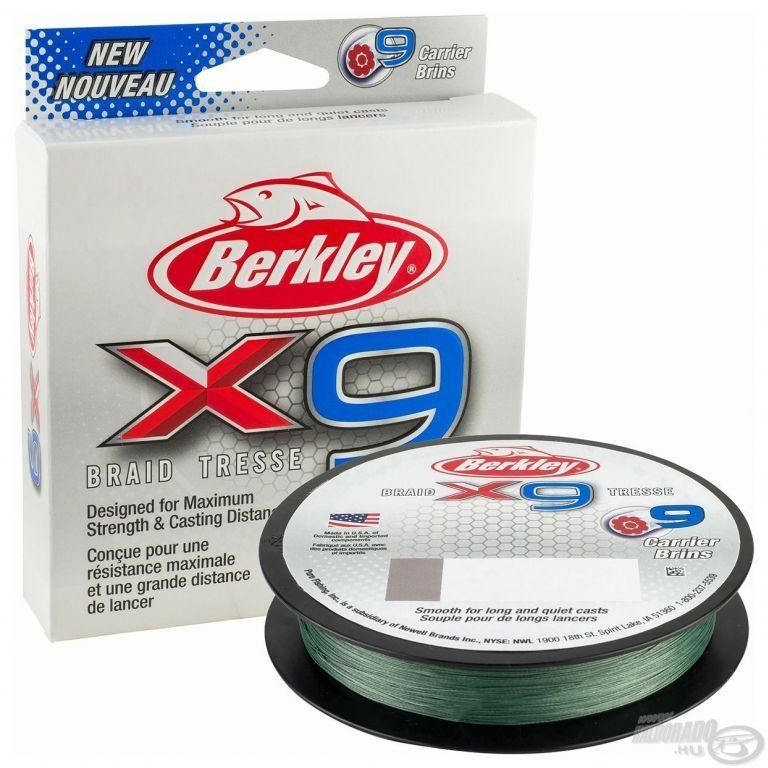 Berkley X9 Braid Low-Vis Green 150 m - 0,06 mm