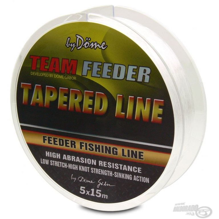 By Döme TEAM FEEDER Tapered Leader 5x15 m - 0,165-0,22 mm