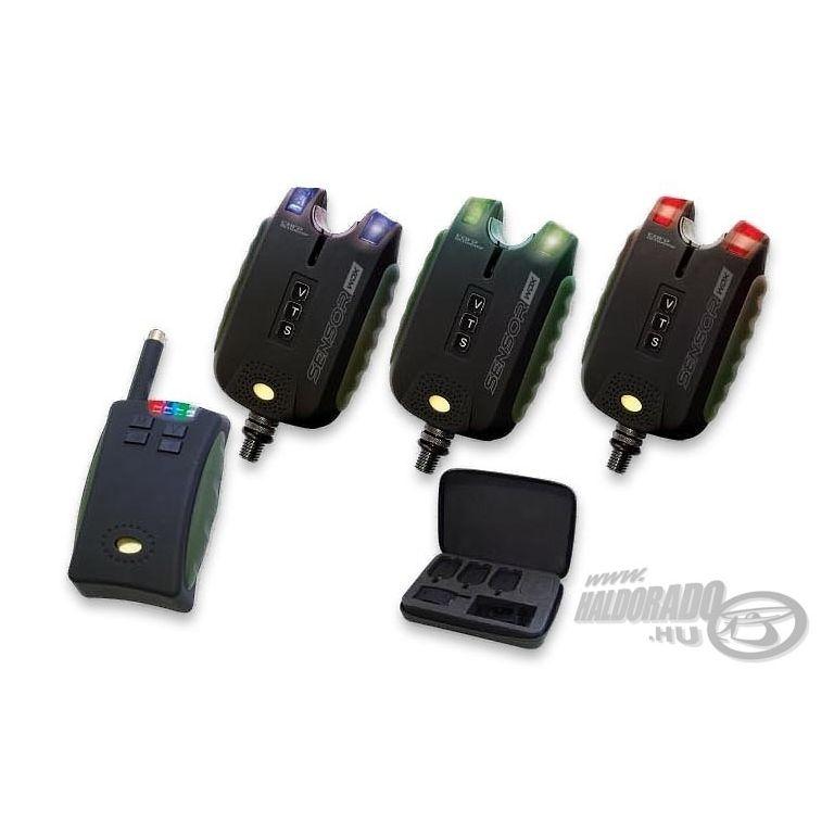 CARP ACADEMY Sensor WDX 3+1 rádiós kapásjelző szett