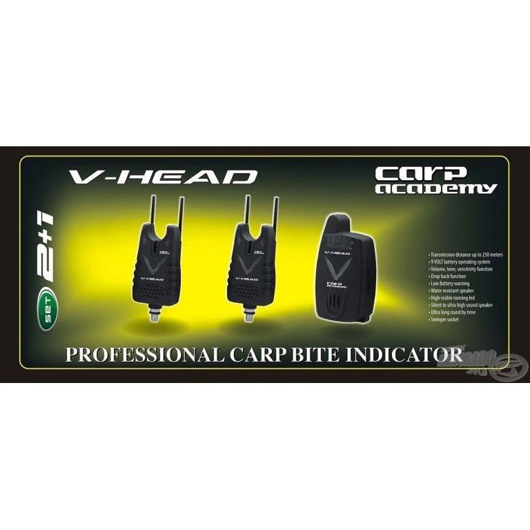 CARP ACADEMY V-Head elektromos kapásjelző szett 2+1 darabos